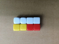 Wholesale wholesale toy prices - 14mm Multi Colored Blank Dice Square Corner Engraving 6 Sided Dice Acrylic DIY Educational Game Dice Funny Toy Good Price High Quality #B42