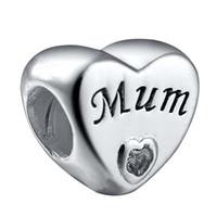 gümüş kalp bilezik kayan toptan satış-Yeni Gümüş kaplama kalp Mum Charm kristal Yüzen ile Avrupa Orijinal boncuk DIY Bilezik Charms Zincir Kolye Bileklik Uyar