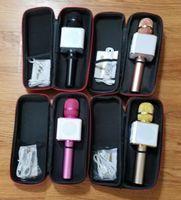 yüksek kaliteli mikrofonlar toptan satış-Q7 El Mikrofonu Hoparlör Mic Ile Bluetooth Kablosuz KTV Mic Mikrofonun Hoparlör Taşınabilir Karaoke Player perakende çanta içinde Yüksek Kalite