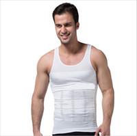 forme des sous-vêtements corset achat en gros de-Gros-Mens élastiques minceur corps Shaper ventre ventre taille ceinture gilet T-shirt Corset ceinture ceinture façonner des sous-vêtements
