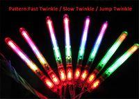 neon-stick lichter großhandel-LED Farbe Flash Modus Neon Stick Licht Knicklicht Festival Abend Party Weihnachtsfeier Festival Camp Neuheit Spielzeug