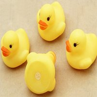 Wholesale Cheap Bath Ducks - Cheap wholeslea Baby Bath Water Toy Yellow Duck Toys Sounds Yellow Rubber Ducks Kids Bathe Swiming Beach Gifts