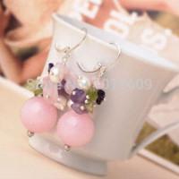 Wholesale Olivine Quartz - Elegant Design Assorted Rose Quartz Amethyst Pearl and Olivine Earrings quartz jewelry earrings helix earrings helix