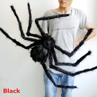 black house spiders - DHL Black And Multi Color Spider Halloween Decor Haunted House Bar Party Festive Prop Stage Indoor Outdoor Wide Plush Toys HH T09