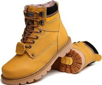 Wholesale Wool Lined Snow Boots - wool lined outdoor lovers shoes plus cotton warm waterproof outdoor snow boots Martin boots men and women