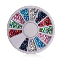 Wholesale Fancy Oval Rhinestones - Wholesale- Mixed Color Nail Art Oval Rhinestone Fancy Cat Eye Acrylic Flatback Crystal Stones for Jewelry Crafts Nail Decorations