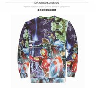 Wholesale Poland Fashion - 3D The Avengers Sweatshirts Personalize Pullover Round Neck Fleece Sweatshirt For Lover Poland Fashion Brand Long Sleeve in Spring J160136