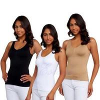 Wholesale Bra Tank Top Shapewear - Wholesale-Women Body Shaper Genie Bra ShapeWear Tank Top Slimming Camisole Dint