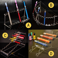 Wholesale Curve Batteries - Arc Curve Ecig Vape Stand Acrylic Display Rack Clear Showcase For Ego Evod Mini Ego One Vision Battery Disposable Vaporizer Pen Holder Cheap