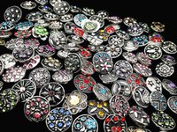 Wholesale wholesale buttons bulk - wholesale Bulk Lots Mix Designs 18mm Snap Buttons Charm Chunk Ginger Interchangeable copper alloy Snaps Jewelry Brand New Hot Sale