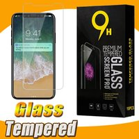Wholesale Retail Packaging For Screen Guard - Tempered Glass Screen Protector Film Guard 9H Premium Explosion For iPhone X 8 7 Plus 6 6S Samsung Note 8 S8 S7 Edge With Retail Package