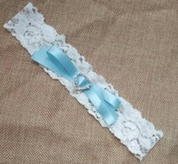 Wholesale Vintage Lace Bridal Garters - Wedding Garter Vintage Ribbon Bow Bridal Lace garter with Heart Rhinestone Customized