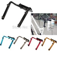 Wholesale Seat Bottle Cage - Hot Sale Bike Bicycle Cycling Road MTB Double Water Bottle Cage Holder Back Seat Aluminum Alloy Red Blue Black Silver Gold order<$18no track