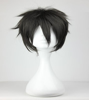 Wholesale Sword Art Wig - Promotion New Sword Art Online Kiritani Black 32cm Short Curly Synthetic Hair Top Grade Man Cosplay Wig