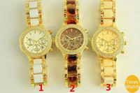 Wholesale Auto Moving - Famous M brand female fashion wrist watch stainless steel women gold quartz Japan move Best gift wacthes