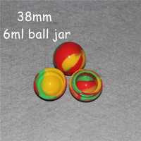20pcs 38mm Ball Silicone Container Jars Dab Box Réutilisable pour Cire Concentrée EGo Electronic Cigarette Colorful
