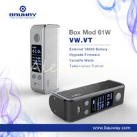 Wholesale E Lock - Authentic Bauway CigGo T61 TC Box Mod E Cigarette Vape Mod VW  VT BYPASS Mod With OLED Screen Lock System Black Silver DHL