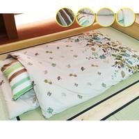 Wholesale 6pcs Comforter Set - Wholesale- 6pcs set Futon Furniture Traditional Japanese Floor Futon Bed Comforter Queen Size 150*210cm Winter Comforter Japanese Futon Set