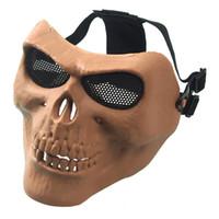 ingrosso maschere paintball scheletro-TOP Rattlesnake Halloween prop decorazione Maschere CS Maschera Regalo di Carnevale Spaventoso Cranio Scheletro Paintball facemask guerrieri Maschera Protettiva