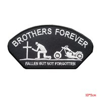 Wholesale Punk Music - HEAVY METAL PUNK ROCK MUSIC SEW IRON ON PATCH BROTHERS FOREVER BIKER PATCH