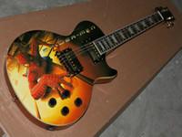Wholesale Guitar Flower Custom - Free Shipping custom shop sunburst electric guitar flower inlay fret board OEM Musical Instruments