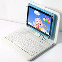 """Wholesale Colorful Keyboard Tablet Covers - Colorful Leather Case Micro USB Keyboard For 7"""" Tablet PC PU Leather Case 7 Inch Anti-dust Stand Case Cover"""