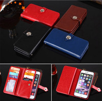 Wholesale galaxy s3 pu leather flip case for sale - Group buy multi function wallet card holder slots flip leather case cover skin shell for Samsung Galaxy S3 S4 S5 S6 S7 luxury case