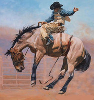 Wholesale Oil Painting Horses Racing - Ride a horse race portrait,Genuine Handpainted Portrait Art Oil Painting On High Quality Canvas,in customized size accepted