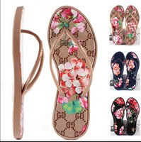 Wholesale Patent Flip Flops - 2016 New Women Summer Fashion Flip Flops Arrival Fashion Women's Brand Shoes Flowers and Comfortable Outdoor Flat Sandals Beach Slippers