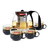 Wholesale Wholesale Glass Teapot - Glass Tea Set Heat-resistant Teapot With Cover and Filter Fragrant Tea Boiling Water Dedicated Transparent Glass Tea Pot Set