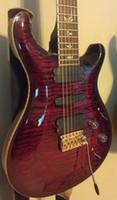 Wholesale Electric Guitar Bird Inlay - Custom Reed Smith Flame Maple Top Purple Electric Guitar 3 Pickups White MOP Birds Inlay Tremolo Bridge Gold Hardware