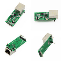 Wholesale Ttl Ethernet - Wholesale- Q18042 USRIOT USR-TCP232-T2 Tiny Serial Ethernet Converter Module Serial UART TTL to Ethernet TCPIP Module Support DHCP and DNS