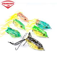 ingrosso basso rana-6pc / lotto Soft Bait 6 colori esche da pesca 2.2
