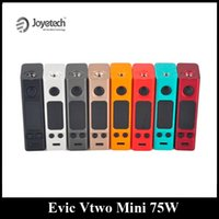 Wholesale Mini Evic - Original Joyetech Evic Vtwo Mini 75W Mod Temperature Control Box Mod with Upgraded Chip Set Single 18650 Battery Power