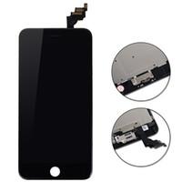 galaxy ace marco al por mayor-Prueba de garantía del 100% LCD para iPhone 6 más pantalla LCD con ensamblaje de digitalizador de pantalla táctil blanco / negro