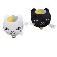 "Wholesale Japanese Cat Stuffed Doll - Japanese Anime Figures Doll Natsume's Book of Friends Cat Teacher Plush Keychain Stuffed Animal Toys Chiristmas Gift 2.5"""