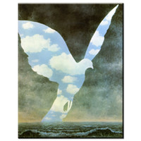 Wholesale Huge Birds - ZZ2038 Rene Magritte The Bird Sky Color Painting Print On Canvas Huge Size Canvas Prints Morden arts decorative Painting