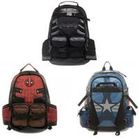 Wholesale Marvel Canvas - Deadpool marvel comics super hero movie civil war school bags men backpack mochila laptop bag backpacks shoulder crossbody bags