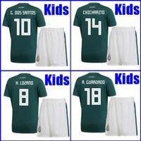 Wholesale Youth Mexico Jersey - Thailand MEXICO KIDS SOCCER JERSEYS 2018 world cup CHICHARITO CHUCKY LOZANO Mexico BOYS YOUTH CHILD football uniform camisetas de futbol