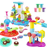 Wholesale Kids Icing Kit - Creative dough icecream & ice lolly & cookies maker colorful clay plasticine and tool kits educational preshool toys pretend play for kids
