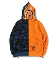 Wholesale Tiger Design Clothes - new design kanye west Suprem Tiger head shark splice color Hoodie Men Women palace 1:1 Brand Clothing off white Sweatshirts Hip Hop