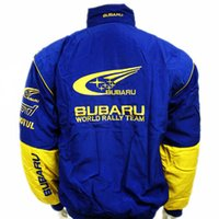 Wholesale Driver Jacket - Fall-NEW 2016 Brand Outdoor Original Automobile Work Wear Motorcycle Clothing F1 SUBARU Emblem Driver Winter Wadded Jacket