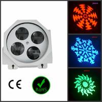 gobo spot light geführt großhandel-Neueste LED-Effekt Gobo Licht / Spot Light 4pcs * 3w für Bühnenparty Disco Nachtclub Dj 8CH Sound Control