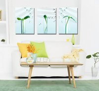 Wholesale contemporary homes pictures - Contemporary Sprout And Music Culture Giclee Print On Canvas Wall Art Home Decor Set30423