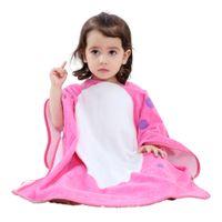 Wholesale Tie Dye Clothes Wholesale - Girls Bathrobes Kids Hooded Cartoon Clothing Babies Colorful Bath Robe Boys Bathroom Cotton Pajamas Children's Towel