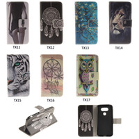 Wholesale stylus stand - For LG G6 G4 G5 K4 K8 K10 2017 Stylus 3 Case Fashion Advanced Painted Wallet Case Flip Stand Phone Case Retail Package