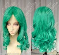Wholesale Sailor Moon Wigs - 100% Brand New High Quality Fashion Picture wigs>>Sailor Moon Sailor Neptune Long Green Curly Cosplay Party Hair Wig