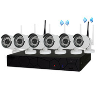 Compra 8ch Nvr-8CH CCTV Wireless 960P NVR 6PCS 1.3MP IR Outdoor P2P Wifi IP CCTV Telecamera di sicurezza Kit di sorveglianza del sistema