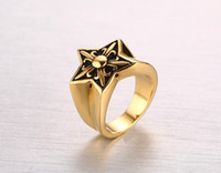 Wholesale New Fashion Fleur Lis - Free shipping New Fashion Titanium steel fleur-de-lis 18 gold plated men women ring European and American style dress and party jewelry