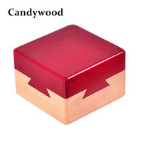 Wholesale Iq Box - Candywood High quality Wooden Magic Box Puzzle game Luban lock IQ toys For Children Adult Educational Toys Brain Teaser Game